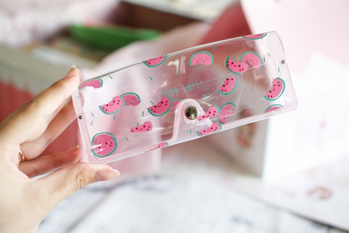 Cute watermelon glasses case