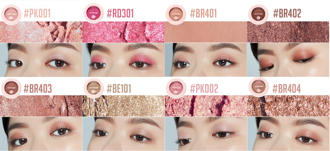 Etude House Picnic Blossom Air Mousse Eyes swatch