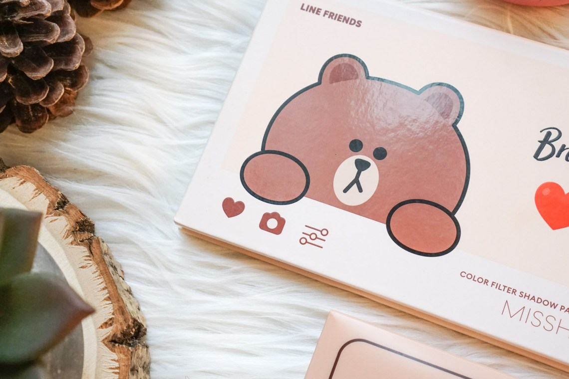 Missha LINE Friends Color Filter Palette Brown Brownie