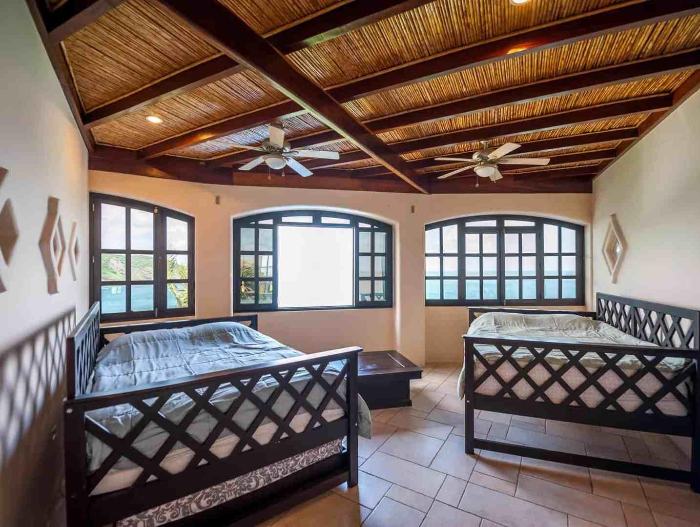 Queen beds in fourth bedroom