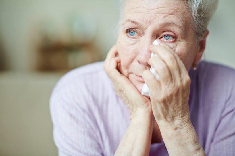 woman crying for no reason