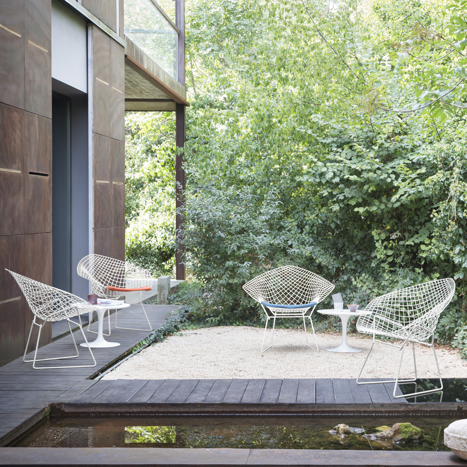 diamond chair replica steel with leather bertoia the marvel