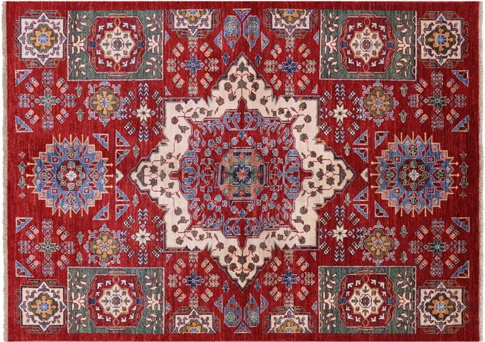 5 7 X 7 8 Peshawar Hand Knotted Mamluk Design Rug