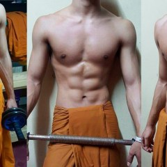 Monje budista sacude las redes por tener un cuerpo sexy