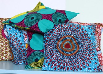 coussin wax africain