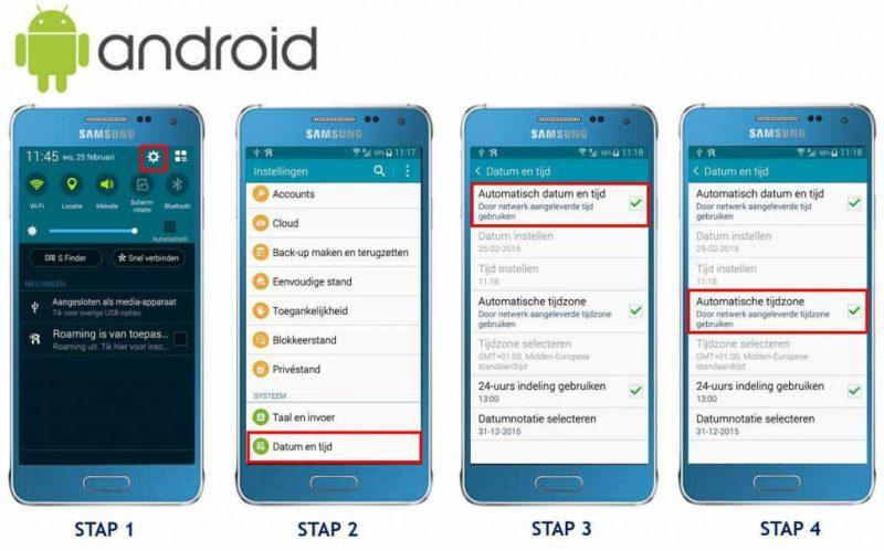tijd en datum android