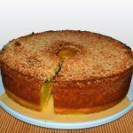Receita especial de bolo de batata-doce crua com amendoim