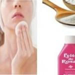 Leite de rosas com bicarbonato: Limpa a pele de forma poderosa e clareia as manchas