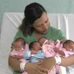Mulher dá a luz quadrigêmeos em gestação natural na Ba: Foi um susto, mas milagre a gente aceita, diz mãe.