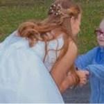 Menina autista confunde noiva com Cinderela e sua reação é linda