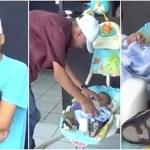 Abandonado pela namorada, pai assumiu a paternidade e viaja todos os dias para trabalhar com seu bebê