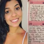 Menina de 8 anos vítima de leucemia deixa carta para voluntária que a visitava; 'ela me ensinou a saber o que é ter um amor de mãe'