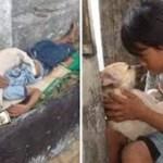 A amizade profunda entre menino de rua e cão vira-lata comove o mundo