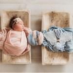 A delicadeza deste ensaio de bebês que registrou o falecimento de um dos gêmeos