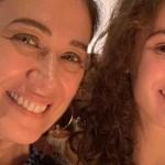 Lilia Cabral se emociona ao gravar pela primeira vez com a filha, Giulia Figueiredo