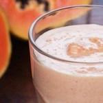 Receita de vitamina de frutas e fibras