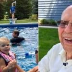 Viúvo de 94 anos constrói piscina para reunir a vizinhança e não ficar sozinho