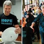 Bon Jovi já abriu 2 restaurantes onde pessoas carentes podem comer de graça