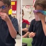 Menino economizou dinheiro para comprar óculos para amigo daltônico ver as cores
