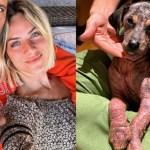 Giovanna Ewbank mostra que filhote resgatada está mais saudável