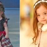 Menina de 4 anos com Síndrome de Down não consegue parar de sorrir ao desfilar