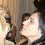 A atriz Glória Pires pede para usar fogos de artifícios para não assustar animais de estimação