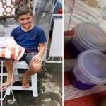 Primos vendem slime na calçada para alimentar cães abandonados