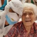 Ela sobreviveu à gripe espanhola em 1918 e agora aos 104 anos derrotou a Covid-19