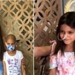 Mãe faz peruca com o próprio cabelo para filha que tem leucemia