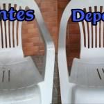 Truque para limpar cadeiras e mesas de plástico encardidas