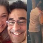 Luciano Szafir fica emocionado no casamento da filha Sasha Meneghel