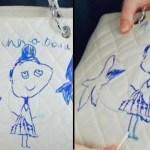 Sua filha de 5 anos usa sua bolsa Chanel no valor de mais de 12 mil reais para desenhar