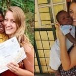 Deixou o namorado em outro país para adotar a criança que conheceu há 6 anos num orfanato