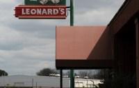 Leonard's exterior sign.