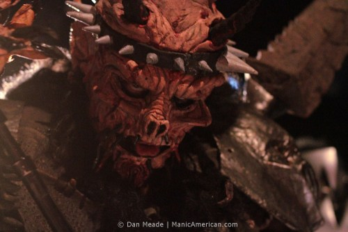 Oderus Urungus looking directly at the viewer.