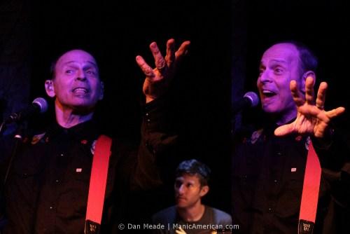 Wayne Kramer gestures at the Bowery Electric.