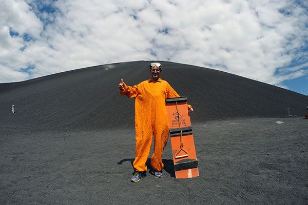 Volcano Boarding on Cerro Negro in Nicaragua