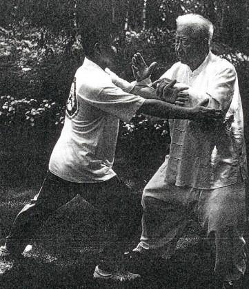 Fu Zhongwen doing push hands