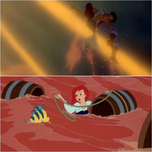 Ariel saving Eric