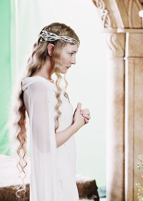 an image of Galadriel portrayed by Cate Blanchet