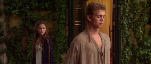 Padmé soothing Anakin on Naboo