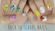 school themed nails super