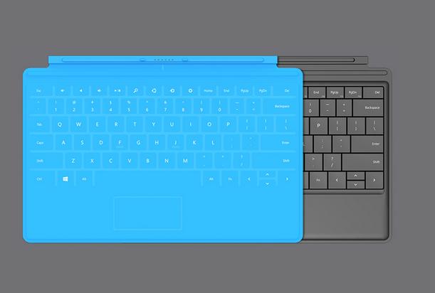 Microsoft 自社開発のタブレット「Surface」はタブレットだが、厚さ 3mm のマグネット式の着脱カバー「Touch Cover」が付属しているのが特徴