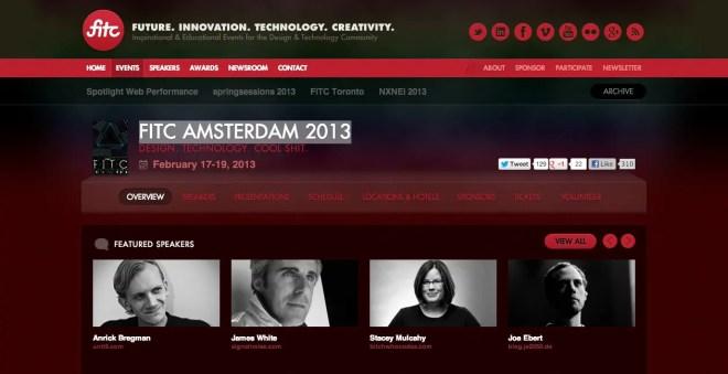 FITC Amsterdam 2013    FITC