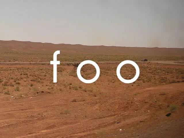 fooの意味 | とくに意味もないときに使う変数名
