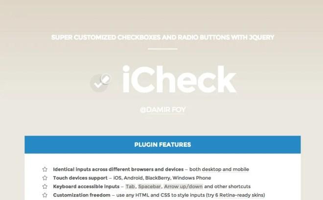 フォームをおしゃれに実装できる iCheck.js