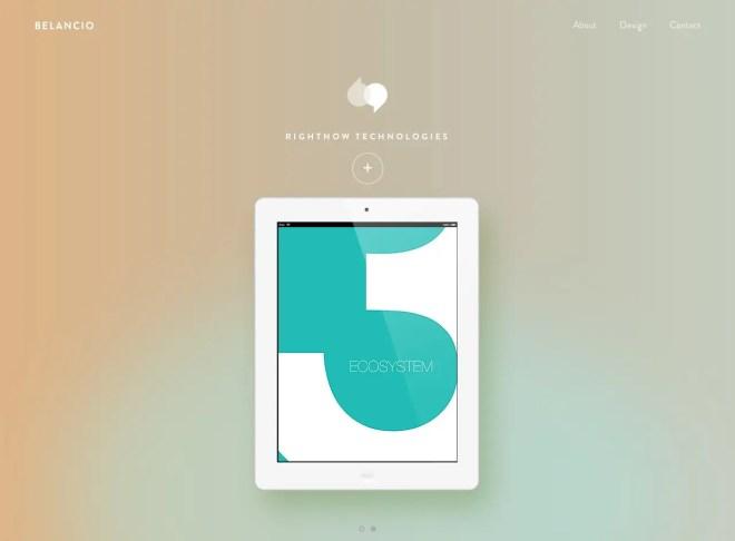 海外のデザイン会社 Belancio のサイト | イケてるサイト