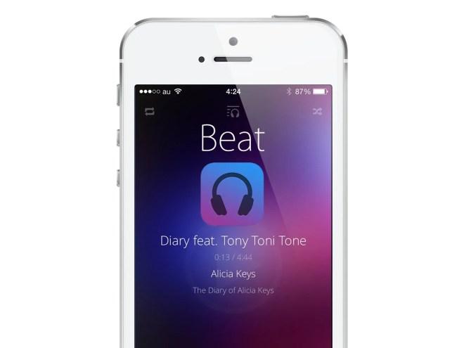 シンプルでおしゃれで美しいミュージックプレーヤーアプリ『Beat』