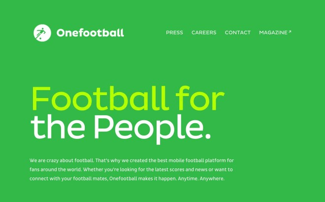 Onefootball   We are crazy about football