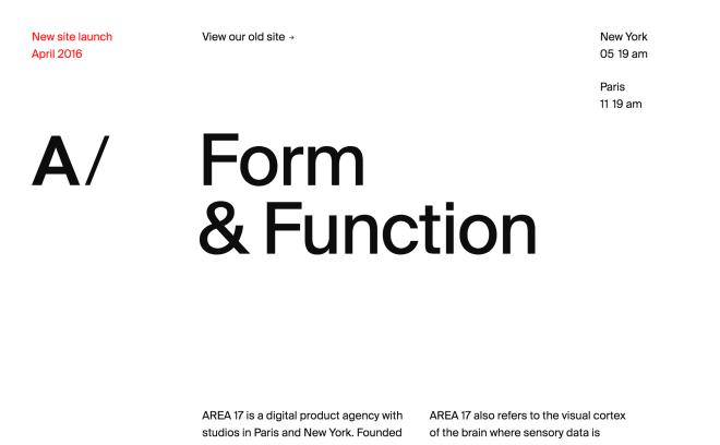 AREA 17 — A digital product agency
